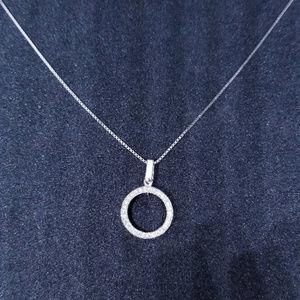 Silver Small Round-Cut CZ Stones Pendant